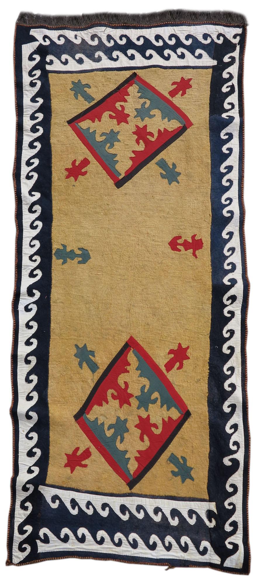 Kyrgyz felt and applique cover