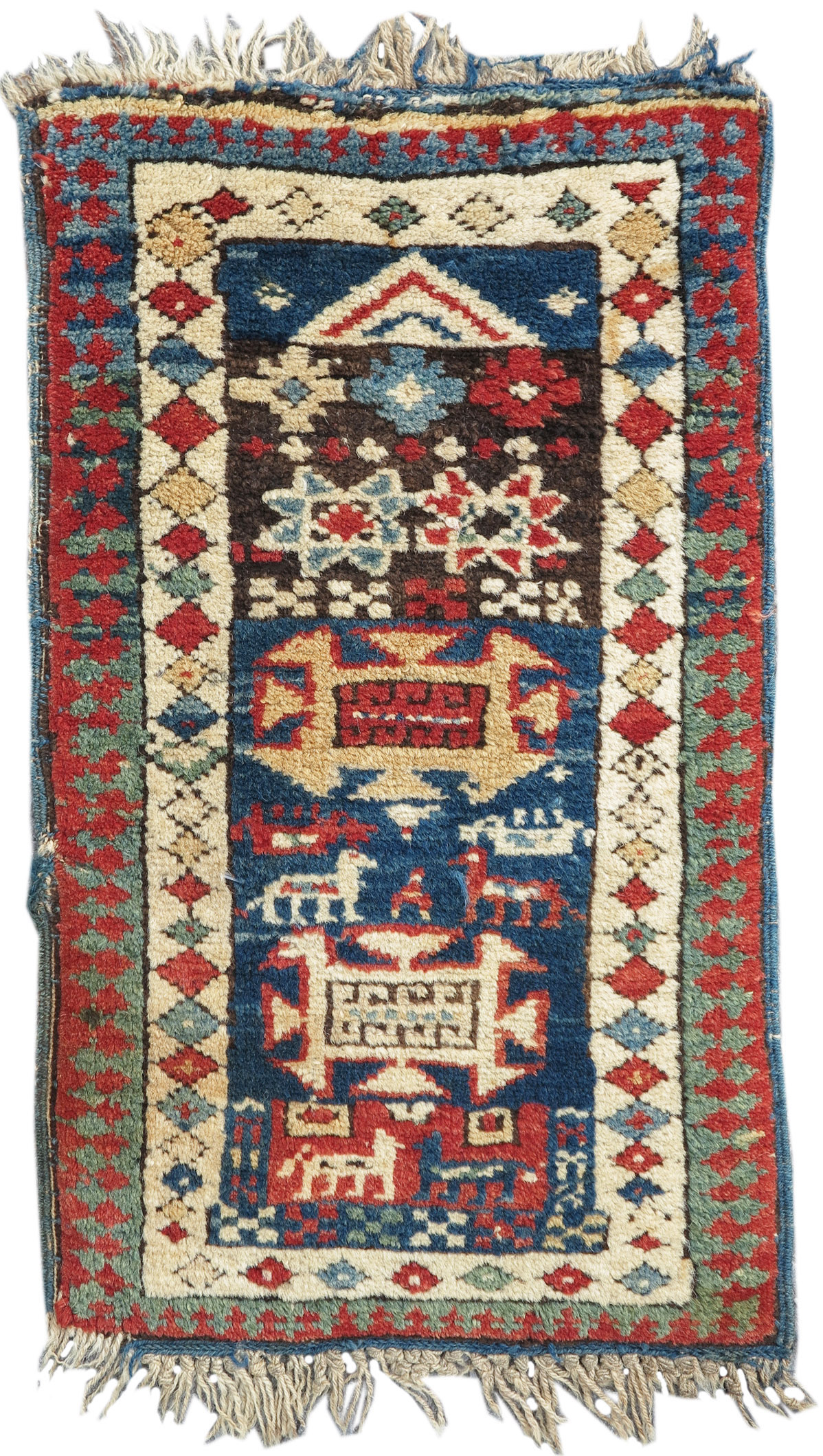 Kuba miniature prayer rug