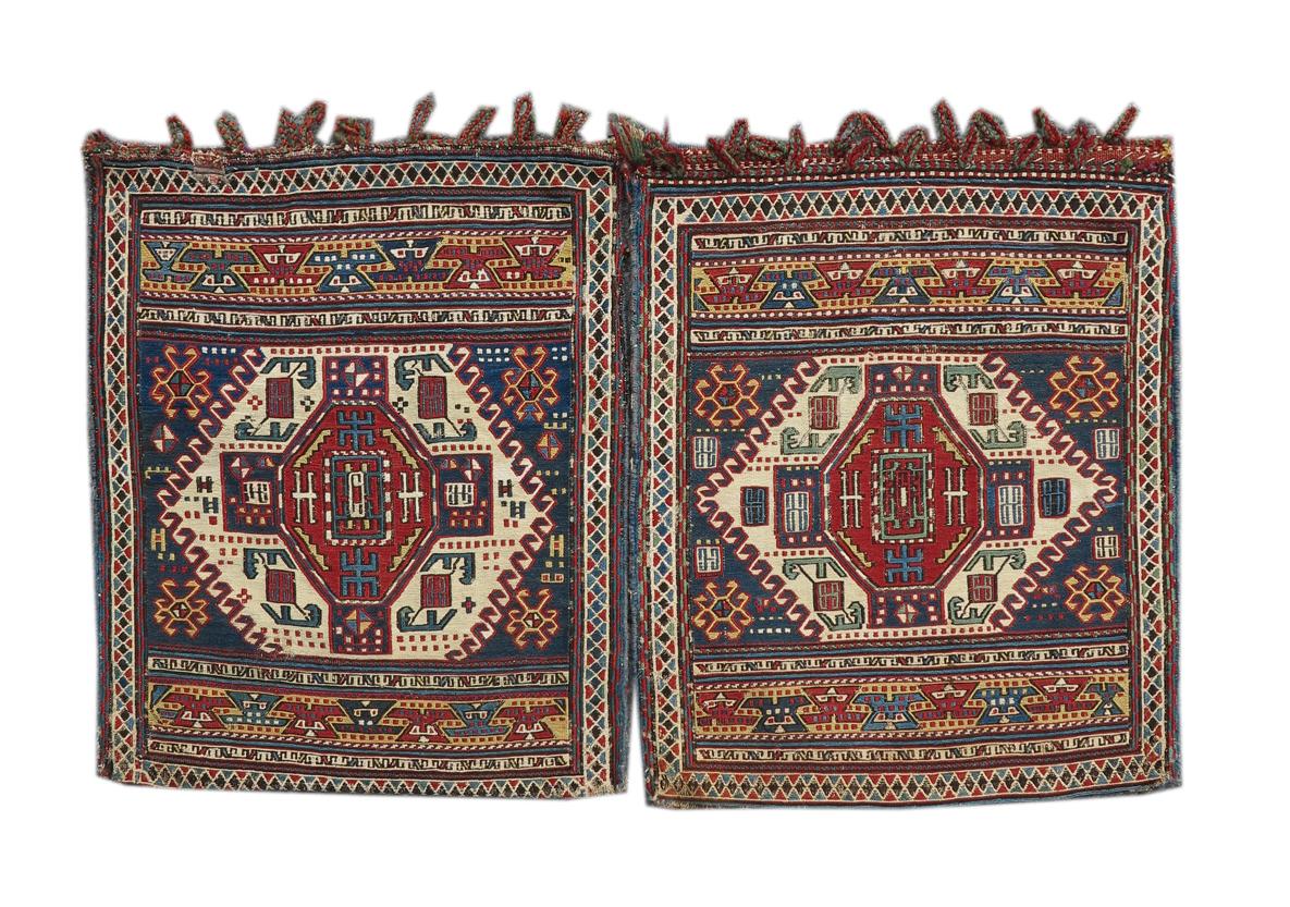 Pair Shahsavan Sumak bags