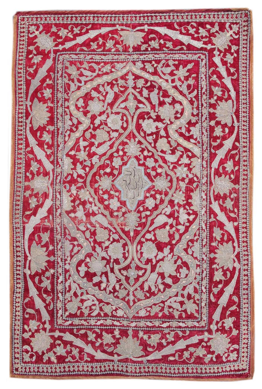Kashan metallic thread embroidery