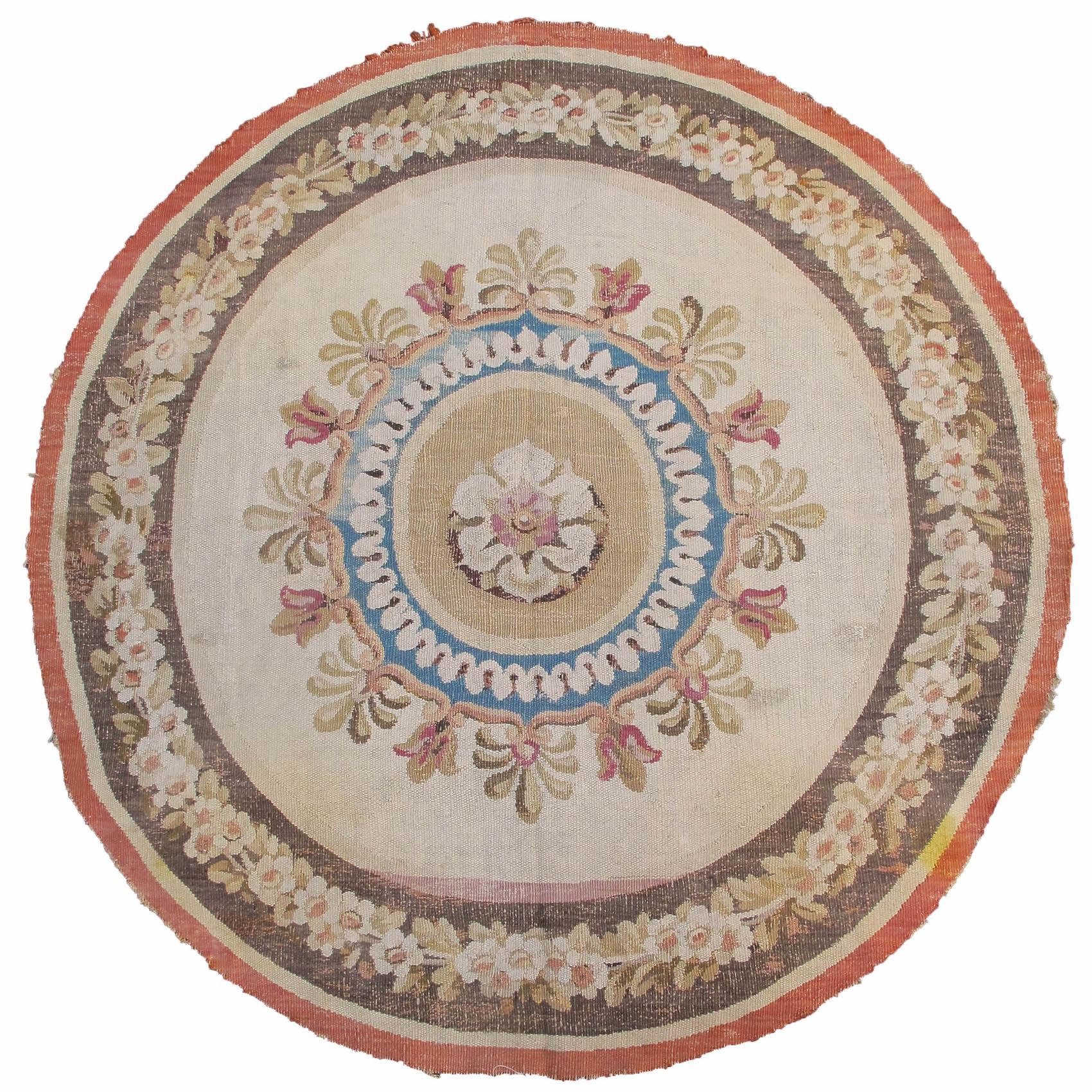 Aubusson round fragment