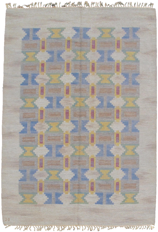 Swedish flatwoven rug