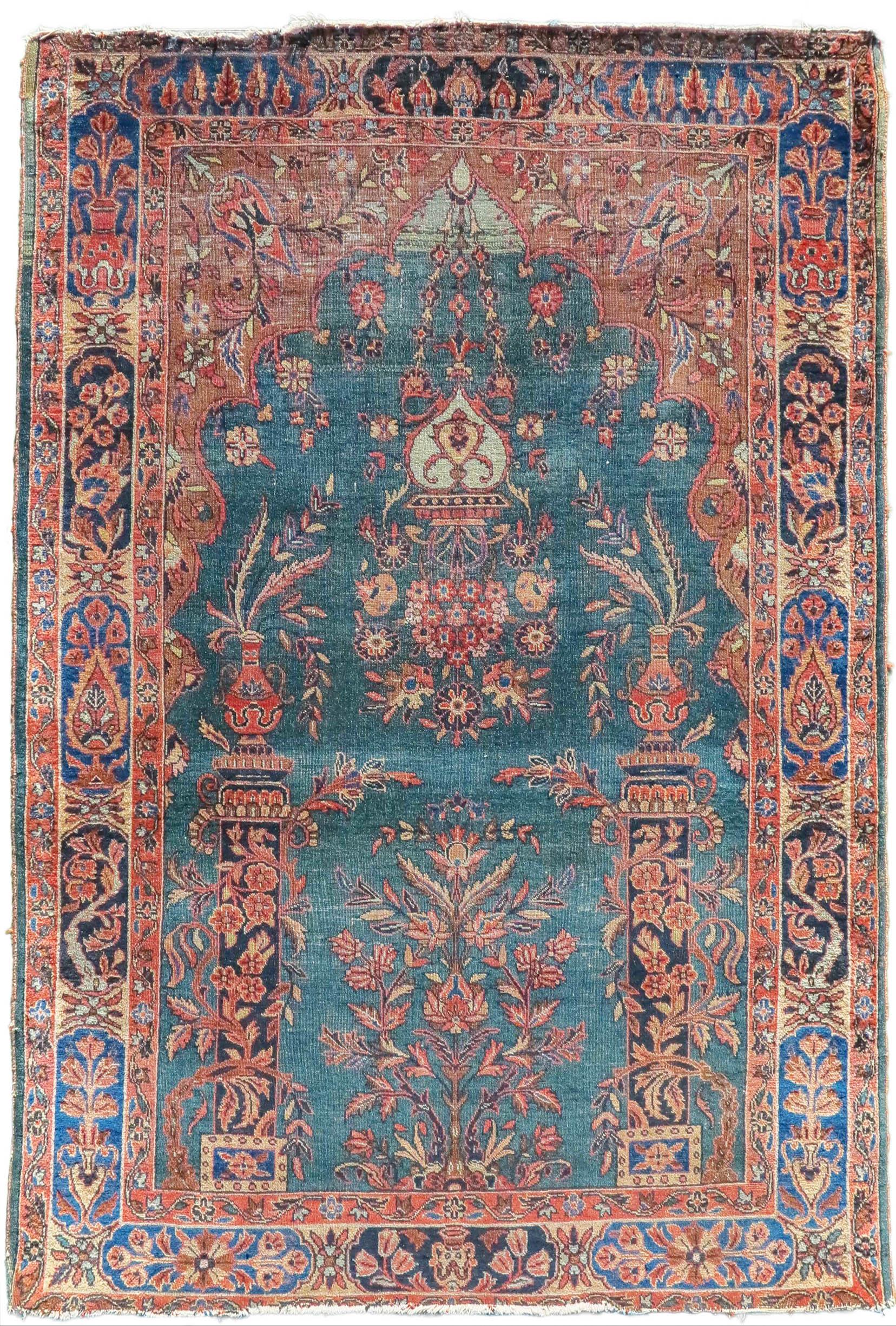 Kashan meditation rug