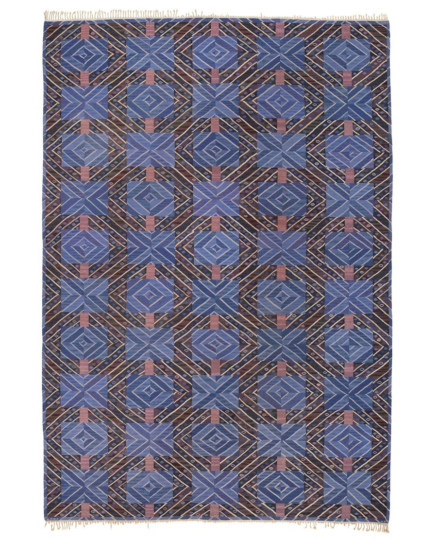Swedish flat woven  rug